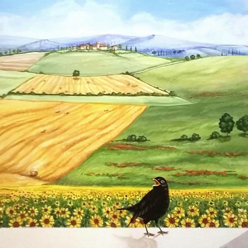 particolare del trompe-l'oeil di Chiara Lanari